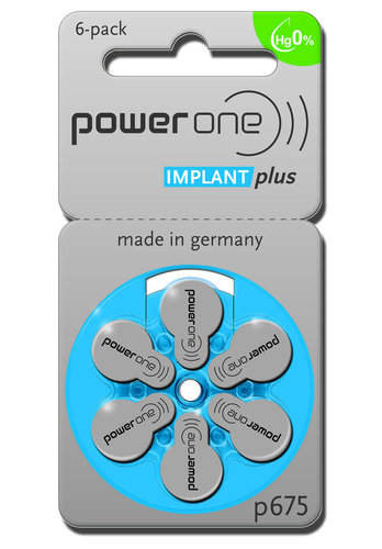 6 x Power One Implant Plus für CI / Cochlear