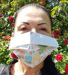 DHW mouth-nose mask made of paper, with pattern, 25 pieces